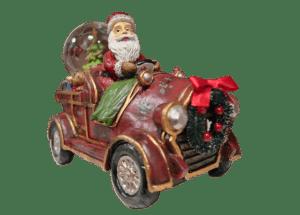 Weihnachtsmann Auto Figur