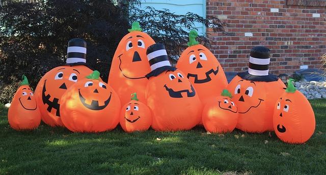 Halloween lustige Gartenfiguren ausfblasbar
