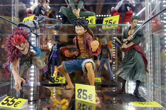 Anime Figuren im Schaufenster