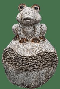 Frosch auf Stein Teichfigur