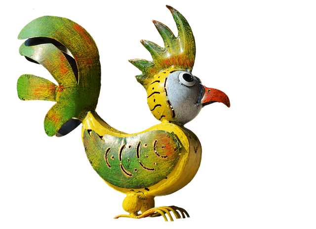 Vogelfigur aus Metall