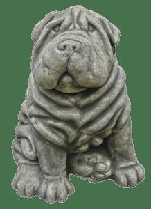 Tierfigur Hund aus Stein
