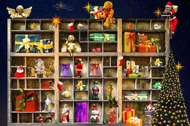Figuren im Setzkasten Weihnachten