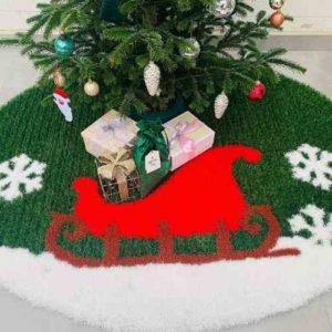 Weihnachtsbaumteppich mit