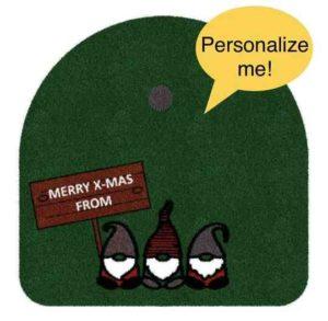 Weihnachtsbaumrasen mit 3 Zwergen und persönlicher Widmung