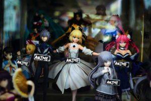 Anime Figuren Schaufenster