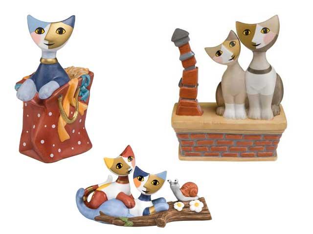 Wachtmeister Katzen aus Porzellan