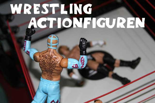Wrestling Figuren Kampfszene