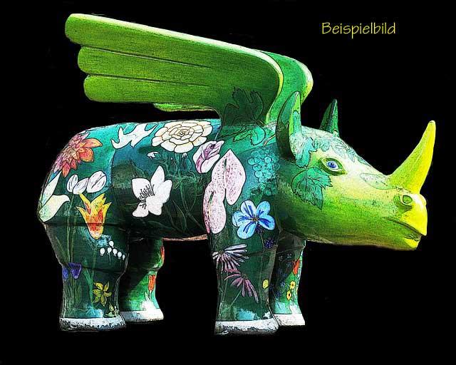 AbstraktesFigur fliegendes Nashorn